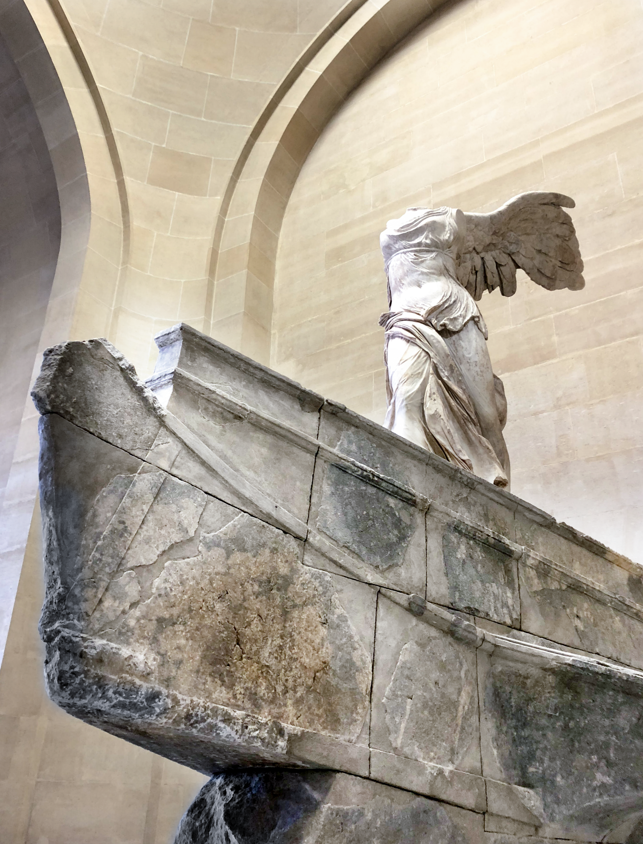 Nike of Samothrace  |  Winged Victory  ; Louvre Museum, Paris (Hellenistic circa 220-185 BC)  Week 2 - Use Rule of Thirds to show motion in your picture. #dogwood52 #dogwoodweek2 #2019dogwood52