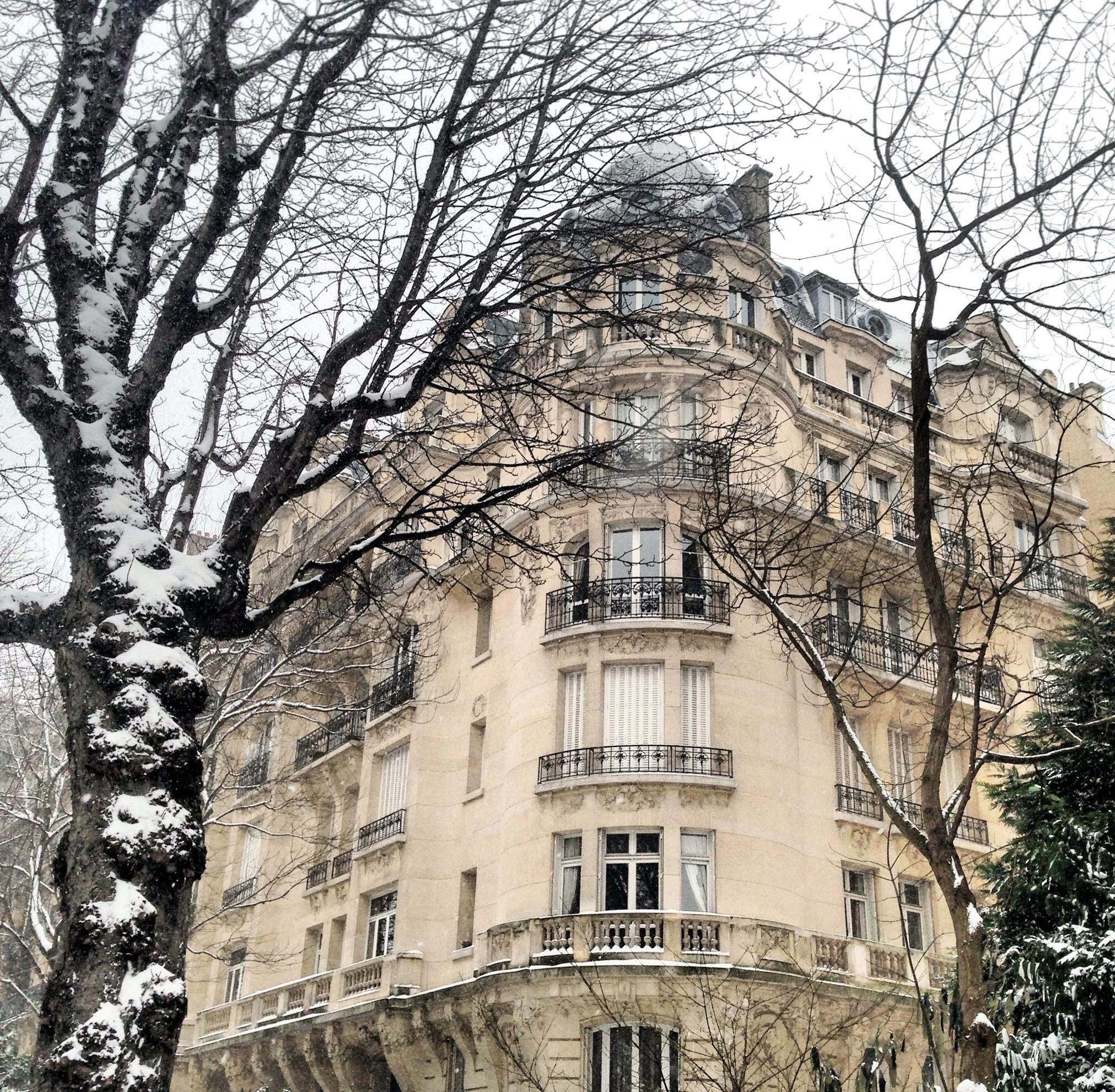 Paris Apartment in the Snow