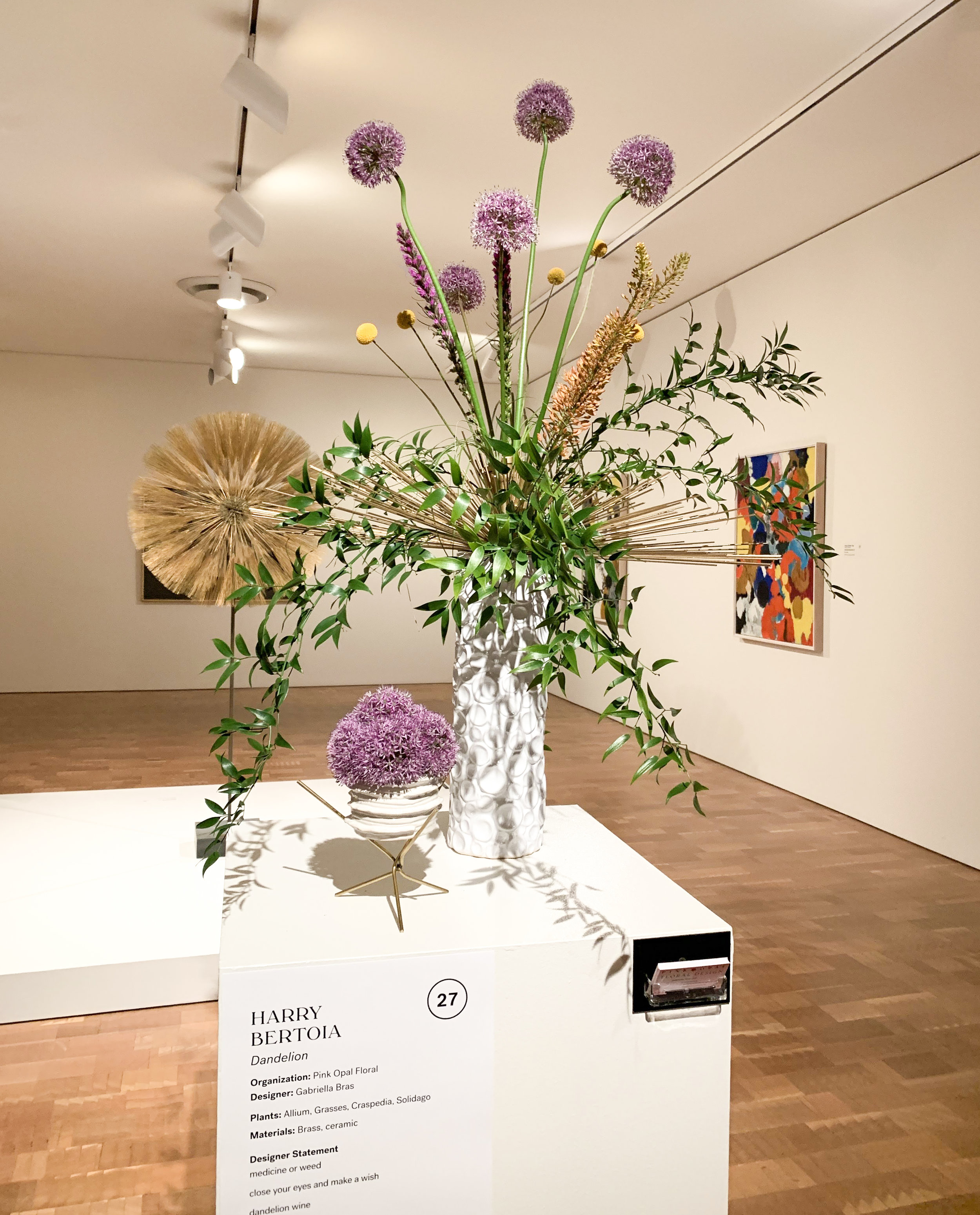 I also quite liked this one, especially the little bowl of allium in the shape of the dandelion sculpture. Three years ago,  this interpretation  of the same sculpture was my best in show.