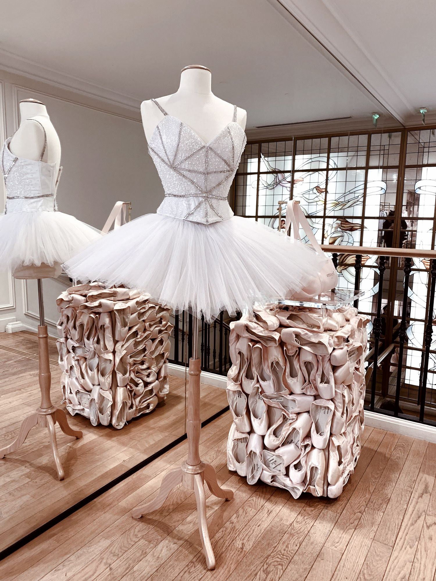 Heavy as a stone or light as a feather: I love the gravity of the blocks of battered slippers juxtaposed with the ethereal tutu. #2019dogwood52 #dogwood52 #dogwoodweek18