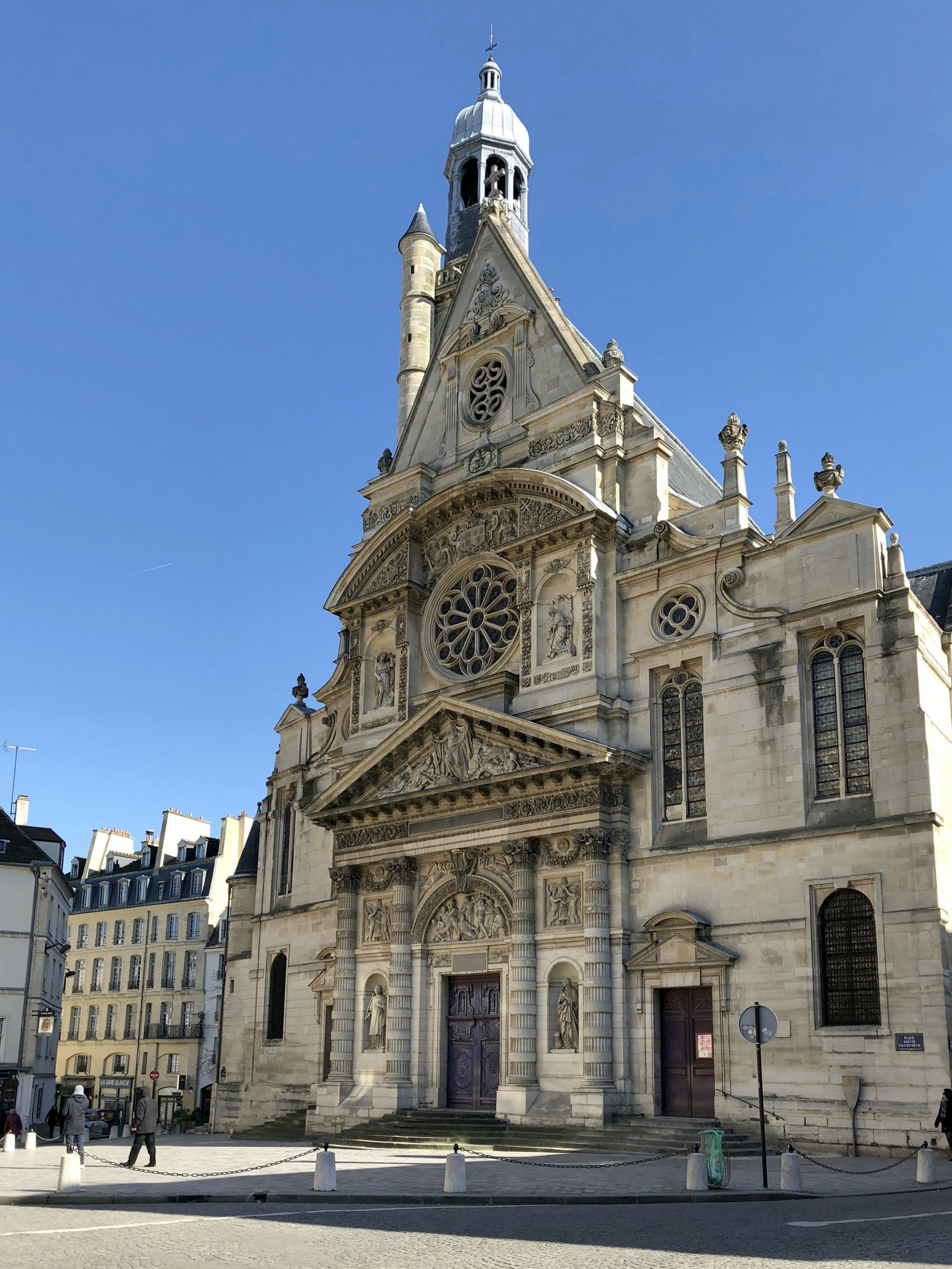 "The church is mentioned in Hemingway's  A Moveable Feast:  ""I walked past the Lycée Henri Quatre and the ancient church of St-Etienne-du-Mont and the windswept Place du Panthéon."" Seems like Woody Allen did his homework!"