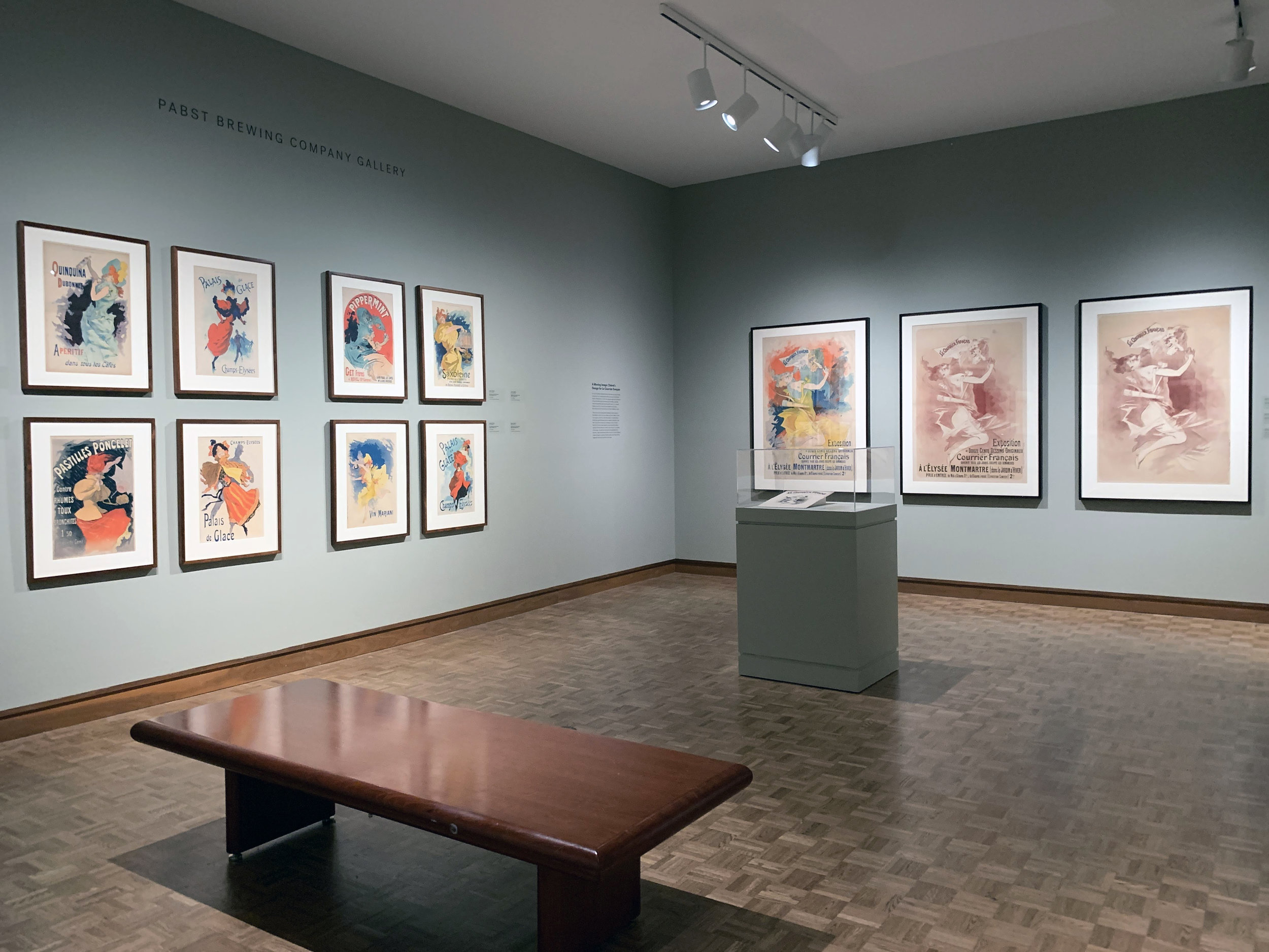 Chéret posters at the Milwaukee Art Museum