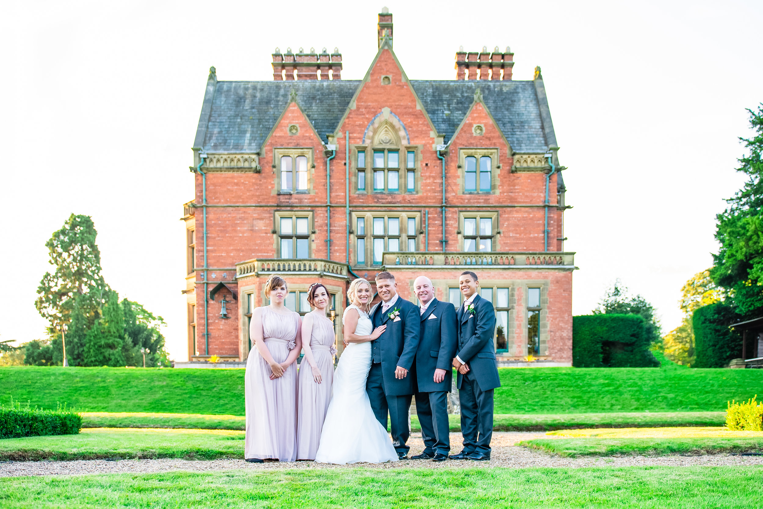 Wedding party Wroxhall Abbey