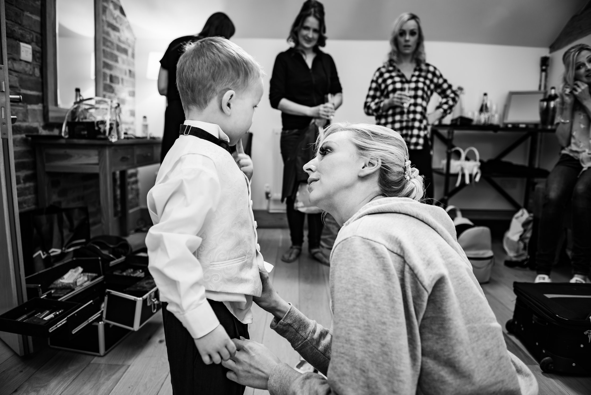wedding photographer beautiful black and white mother and son dana lewis
