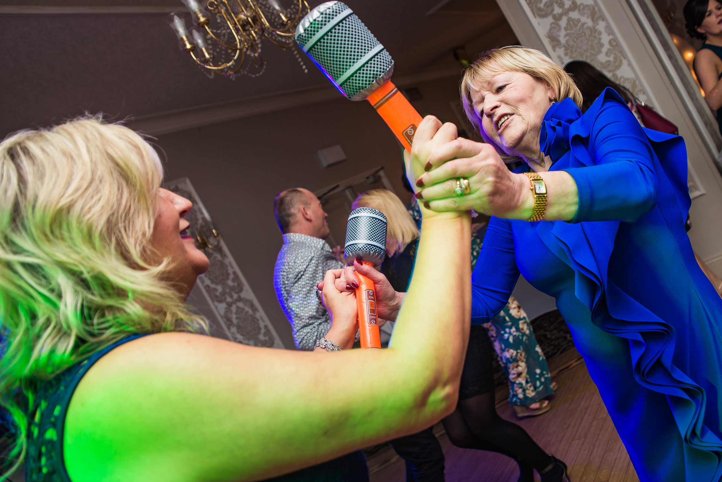 wedding photography microphone funny reception