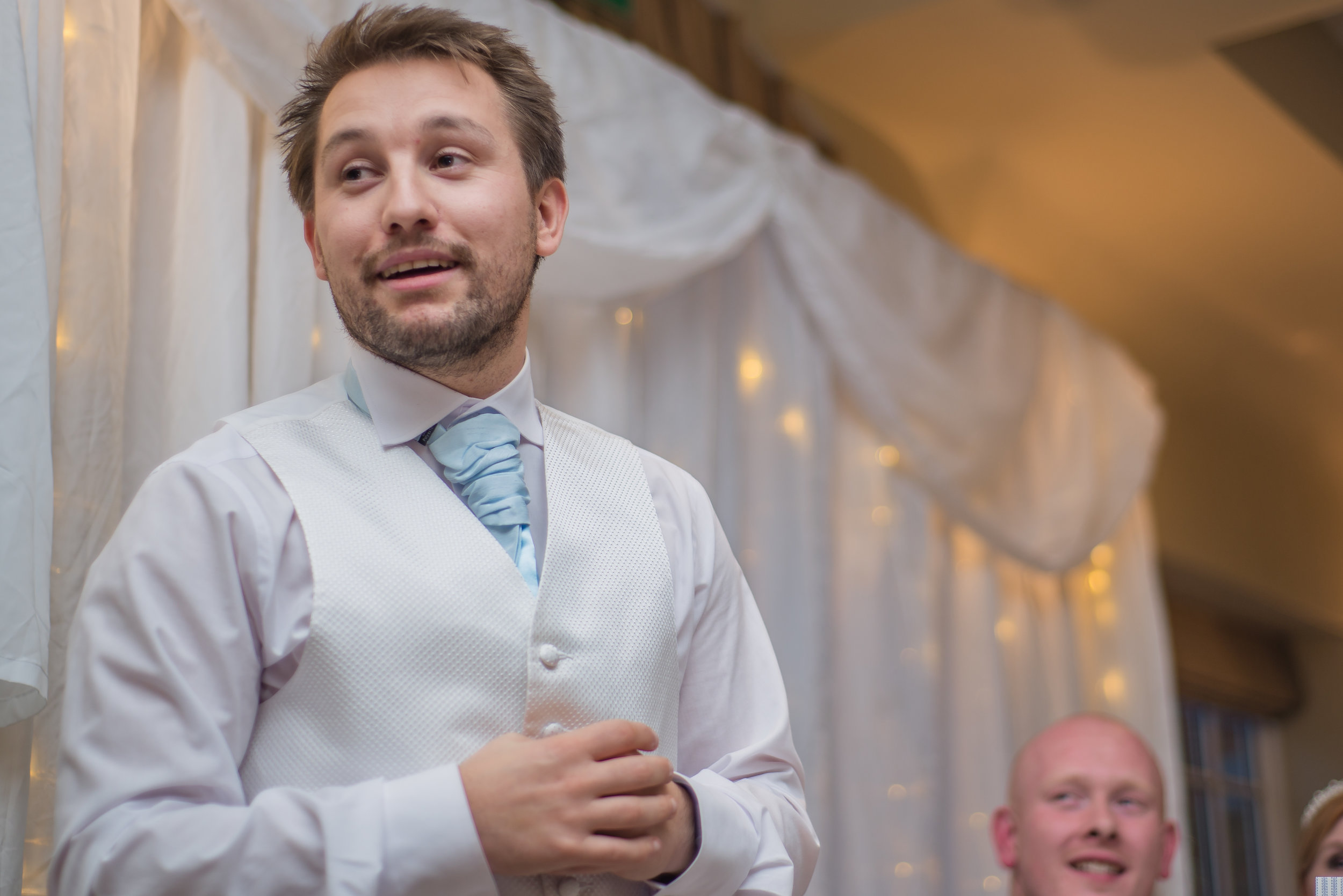 wedding photography and wedding videography, best man sam doing his speech