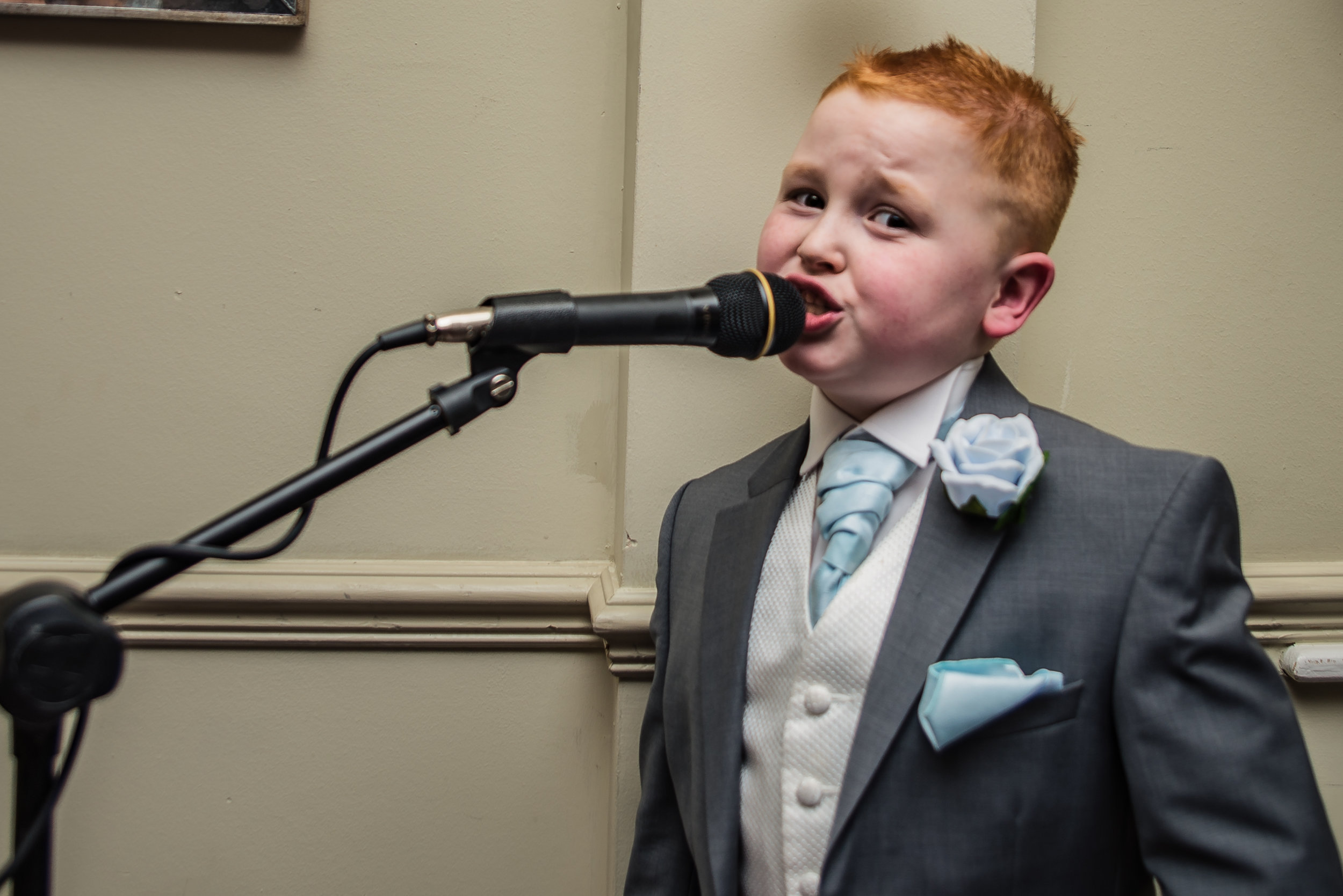 wedding photography and wedding videography, pageboy stealing the show