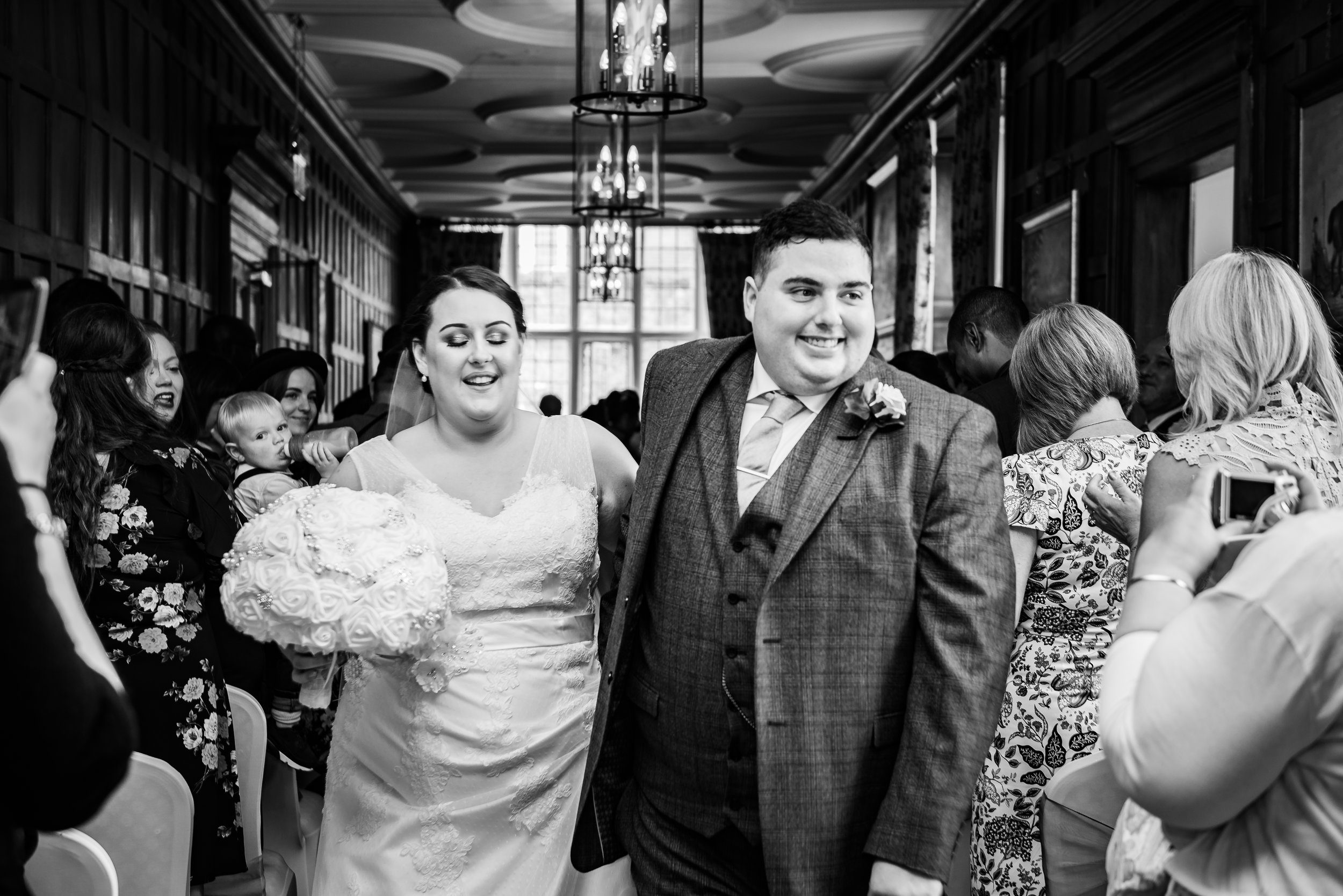 black and white wedding photography husband and wife