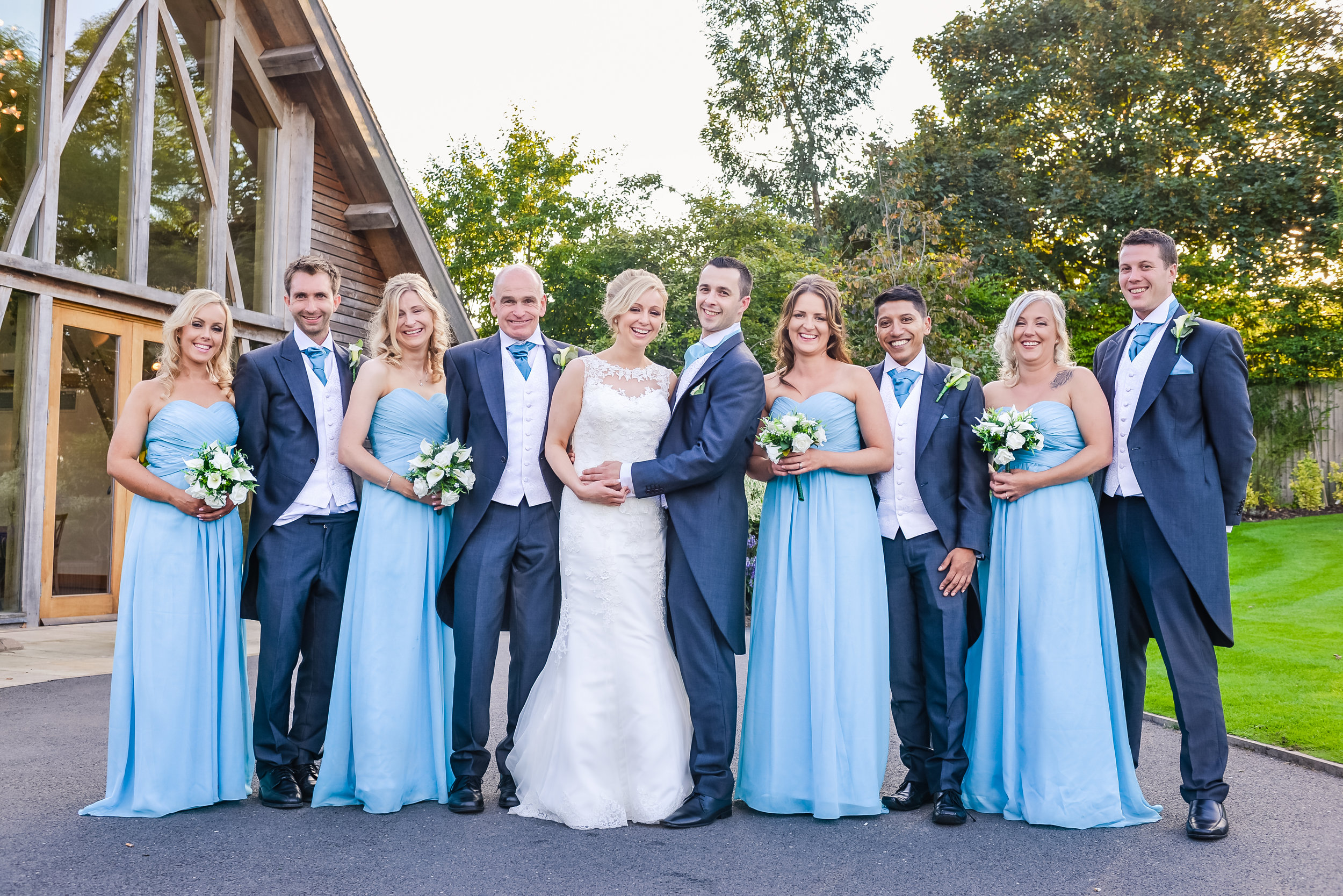 Wedding photography posed group portraits