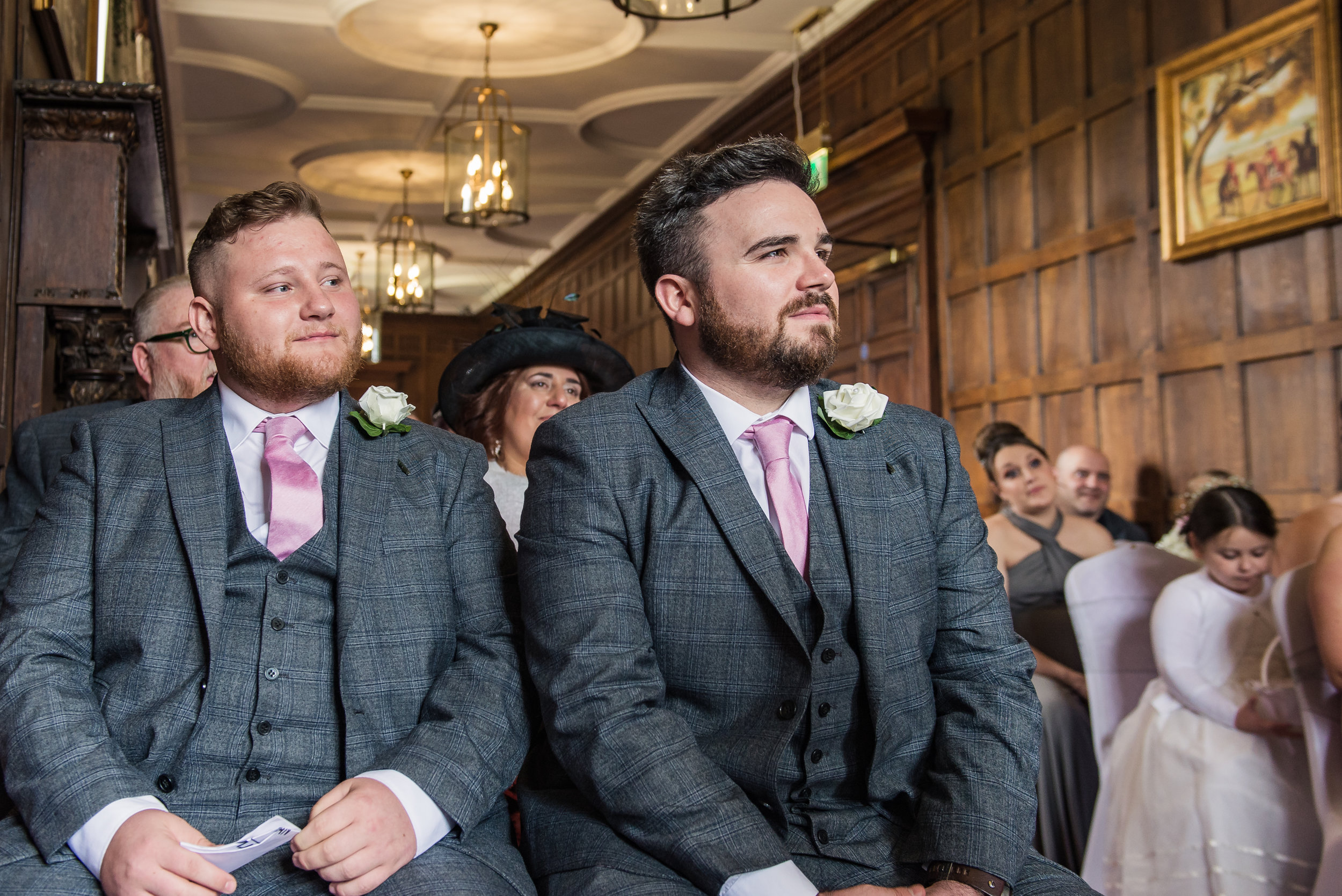 castle Bromwich hall hotel wedding photography awaiting the arrival of the bride