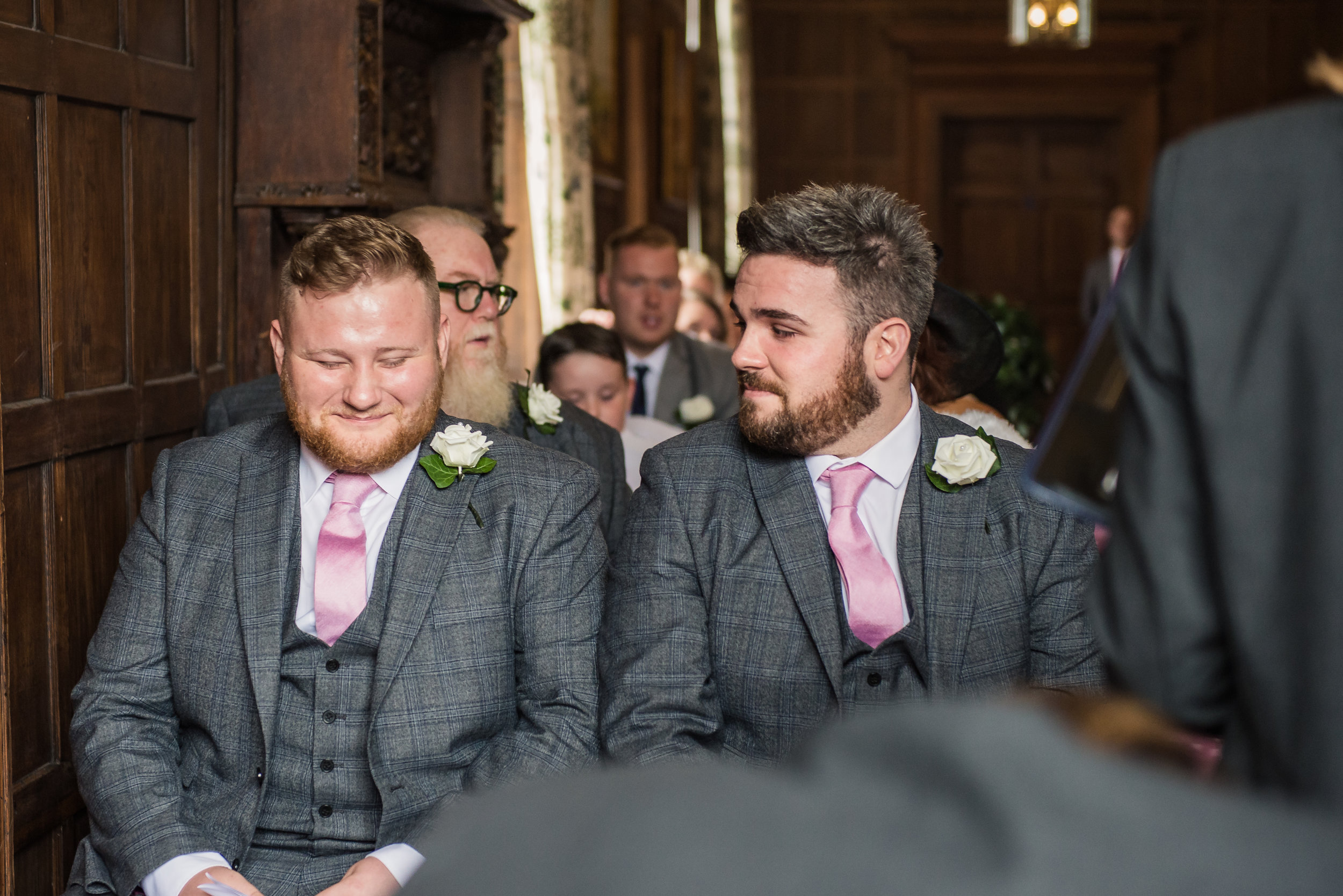 castle Bromwich hall hotel wedding photography awaiting the arrival of the bride something is funny