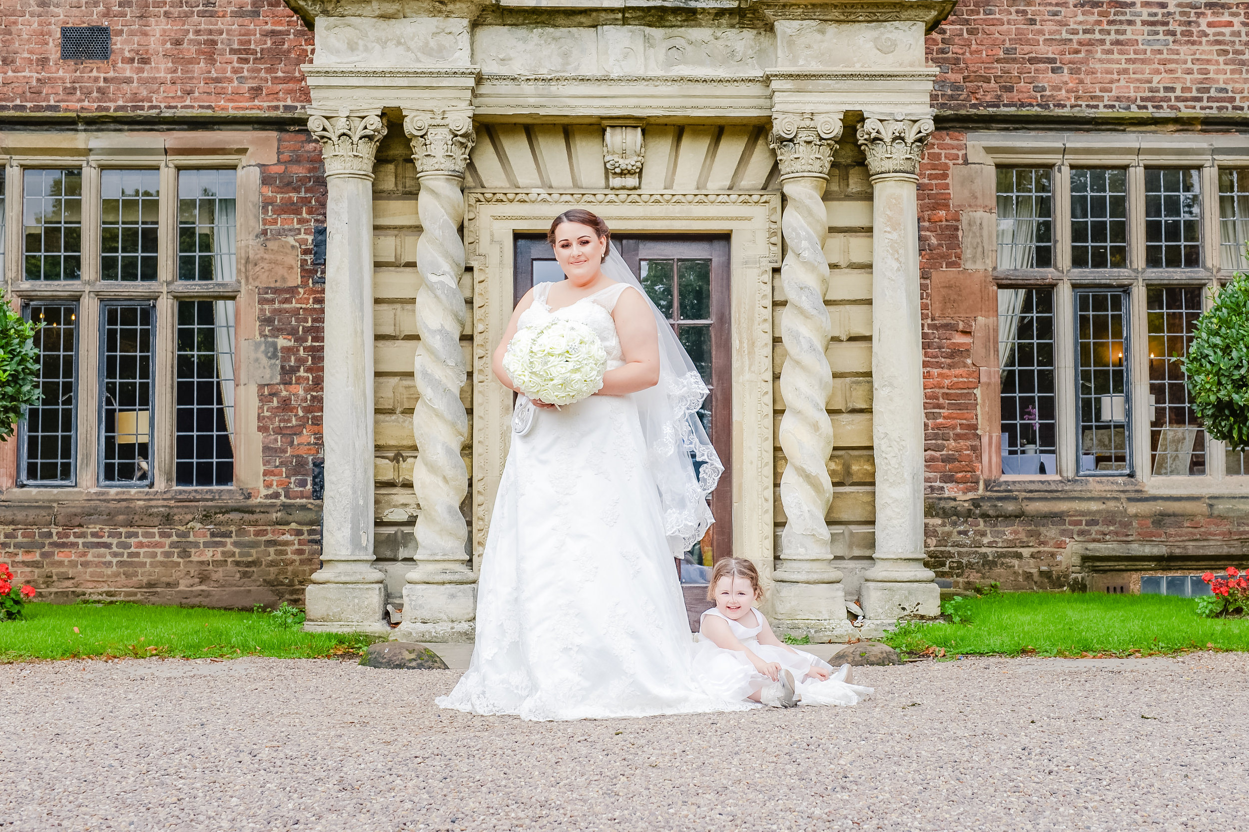 castle Bromwich hall hotel wedding photography beautiful bride and daughter moment
