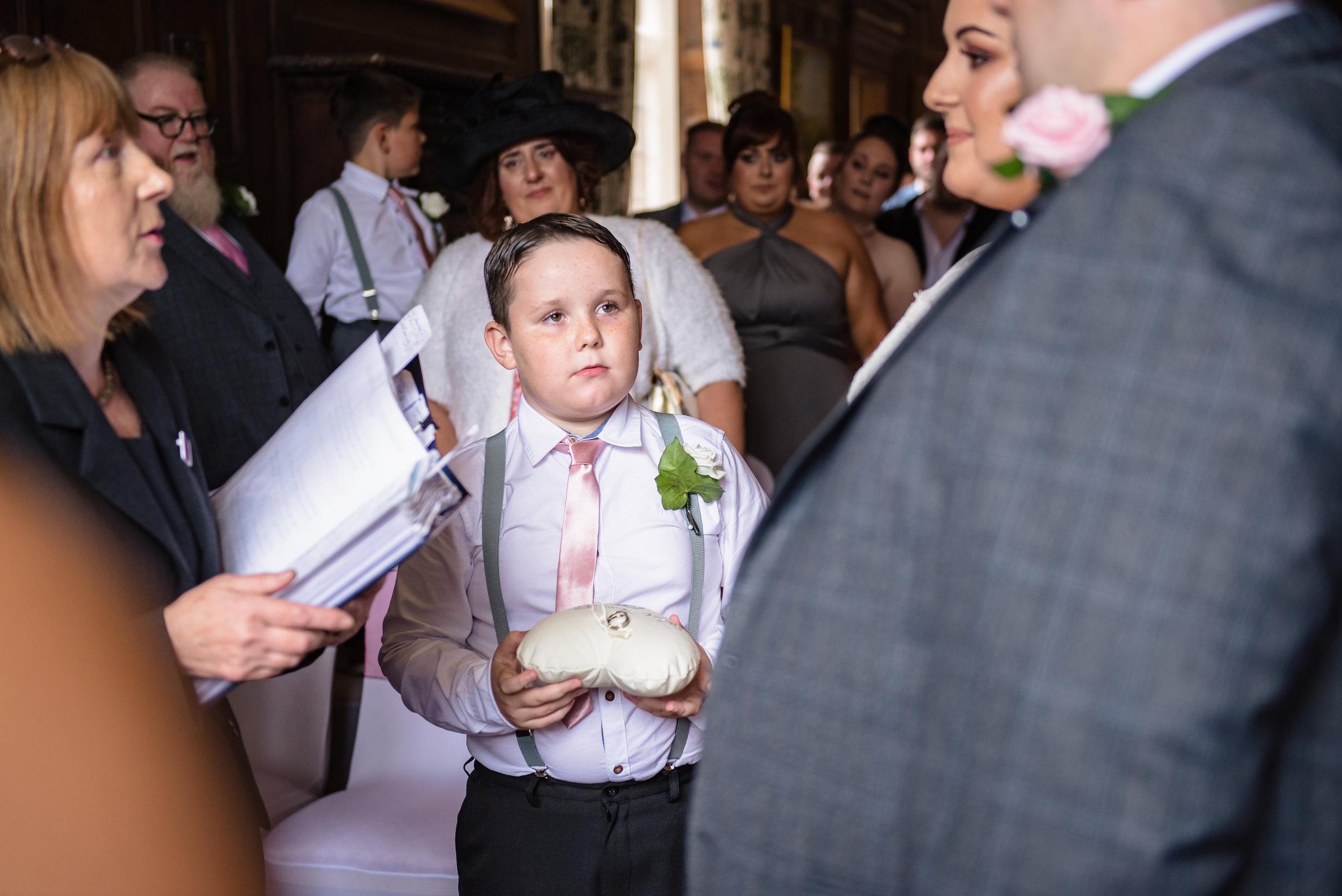 castle Bromwich hall hotel wedding photography run bearer