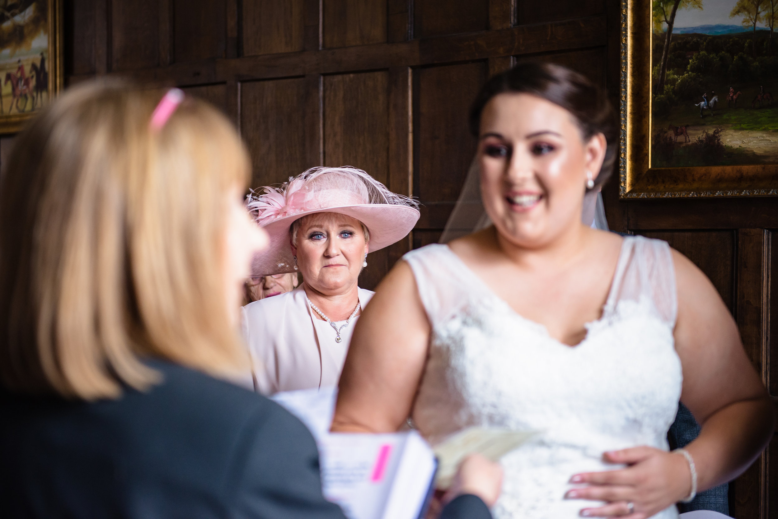 castle Bromwich hall hotel wedding photography emotional mother of the bride