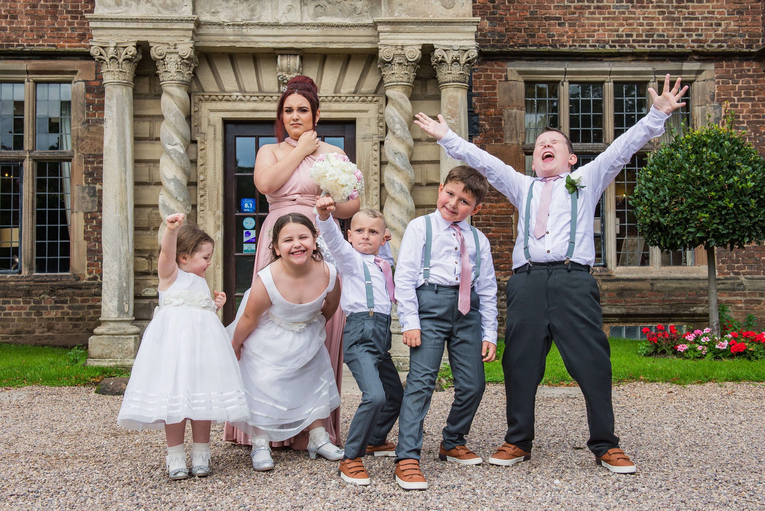castle Bromwich hall hotel wedding photography fun kids photos