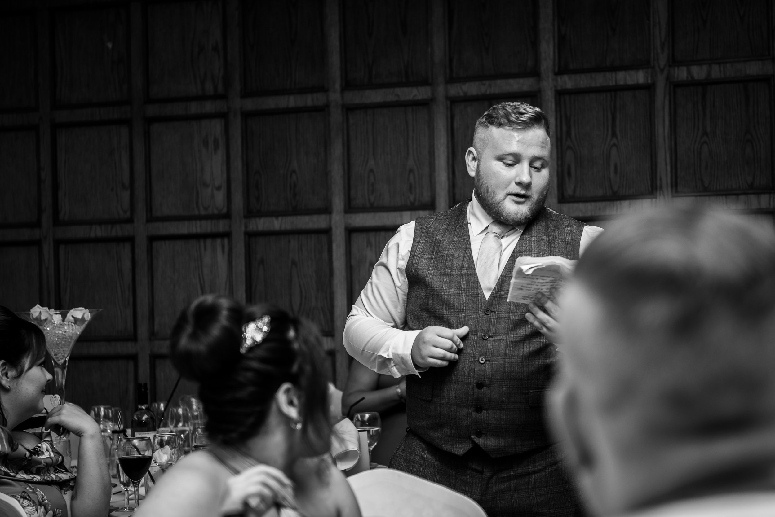 castle Bromwich hall hotel wedding photography natural black and white photography speeches best man speech