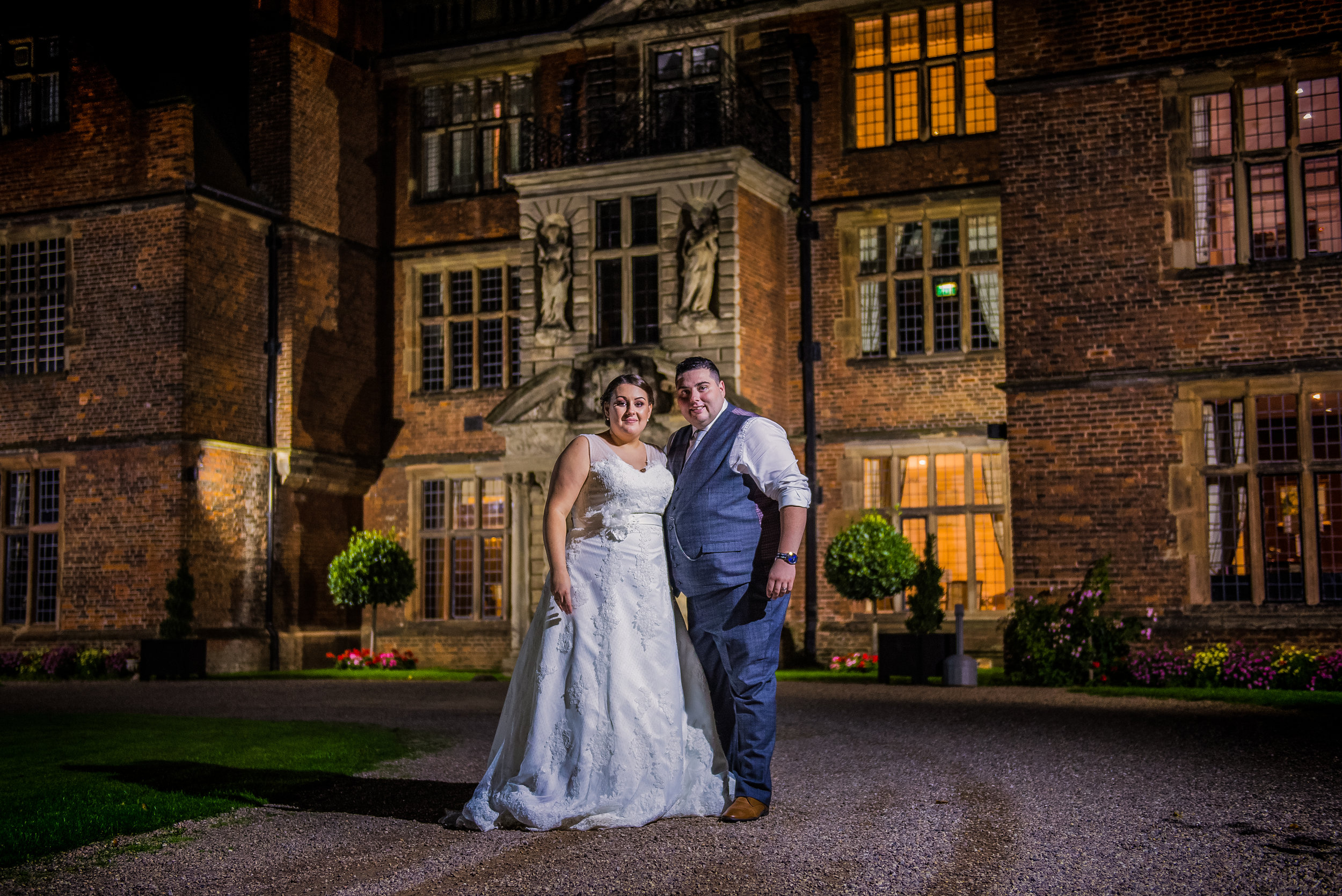 castle Bromwich hall hotel wedding photography bride and groom