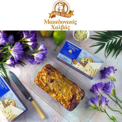 Μακεδονικός Χαλβάς - Ένα από τα αγαπημένα μας παραδοσιακά ελληνικά προϊόντα μάς ζήτησε να δημιουργήσουμε συνταγές για τη Σαρακοστή! Δείτε το κέικ με αχλάδι και χαλβά με αμύγδαλο που φτιάξαμε καθώς και το σχετικό food video στο κανάλι μας στο YouTube.