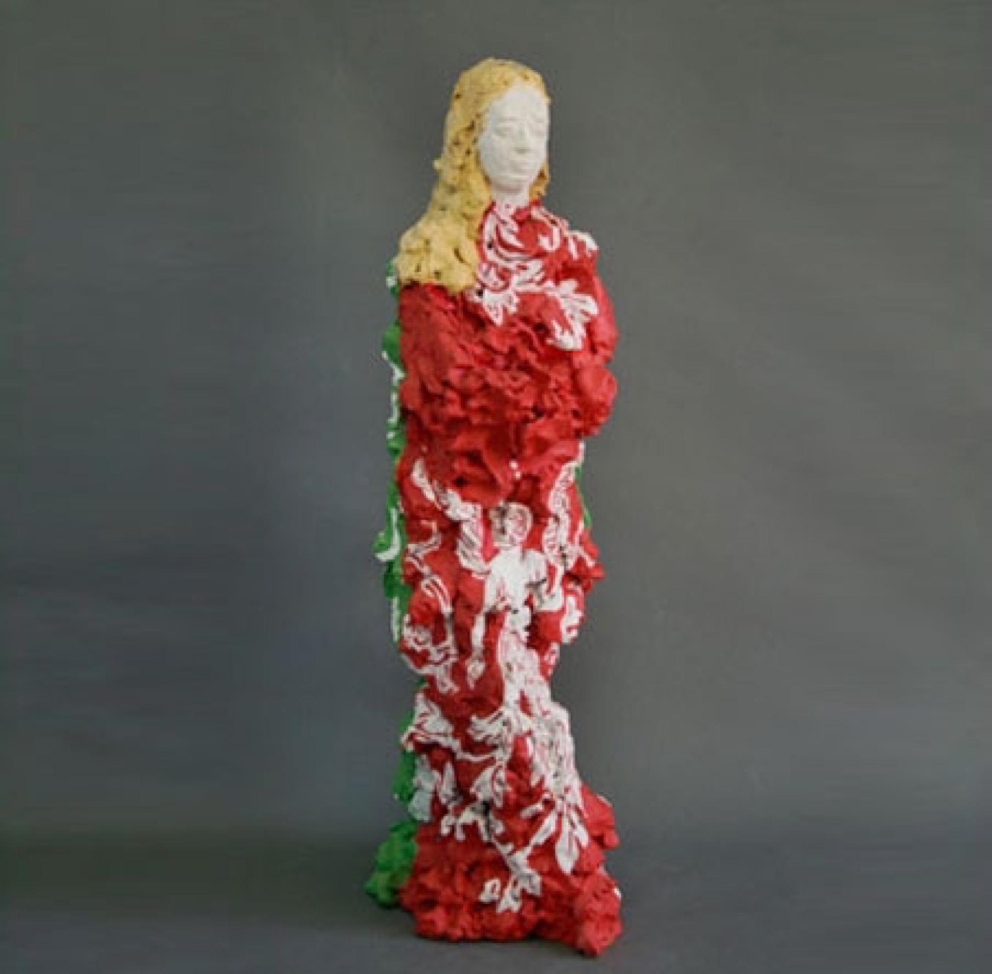 Agnes  2008 Clay, acryl painted 65 cm