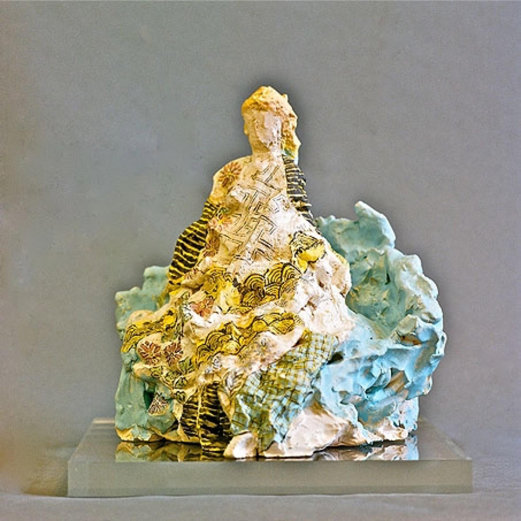 Leili  2009 Clay, acryl painted 30 cm