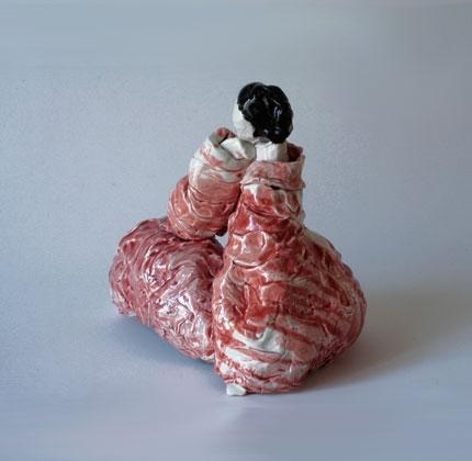 Red lady  2010 Ceramic, glazed 22 cm