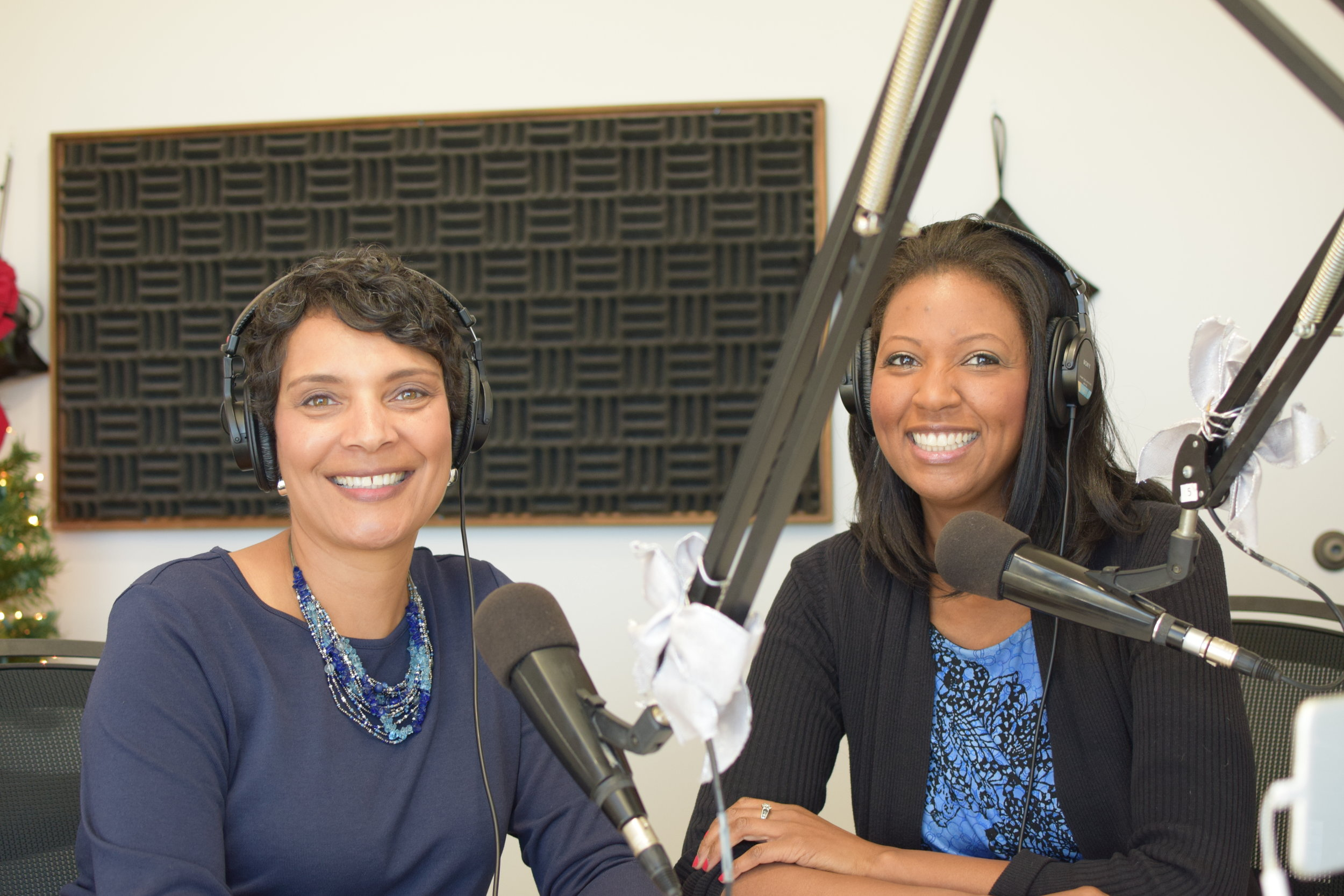 Dr. Peg with Jendayi Harris, Productivity Consultant for McGhee Productivity Solutions