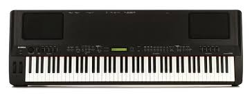 Yamaha CP300 - An 88-key Yamaha keyboard emulating real piano sounds with some Wurlitzer, Rhodes and synth patches. Full-weighted keys.