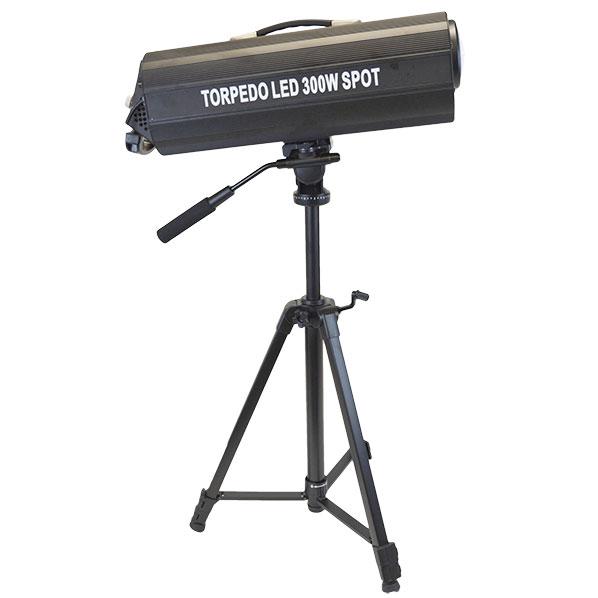 Stage Ape Torpedo 300W Spot - A 300W LED follow spot.