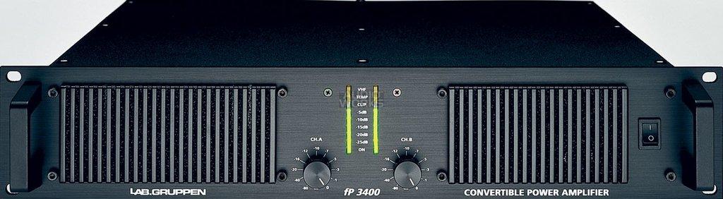 Lap Gruppen fp 3400 - 1100W @ 8 Ohms stereo amplifier.
