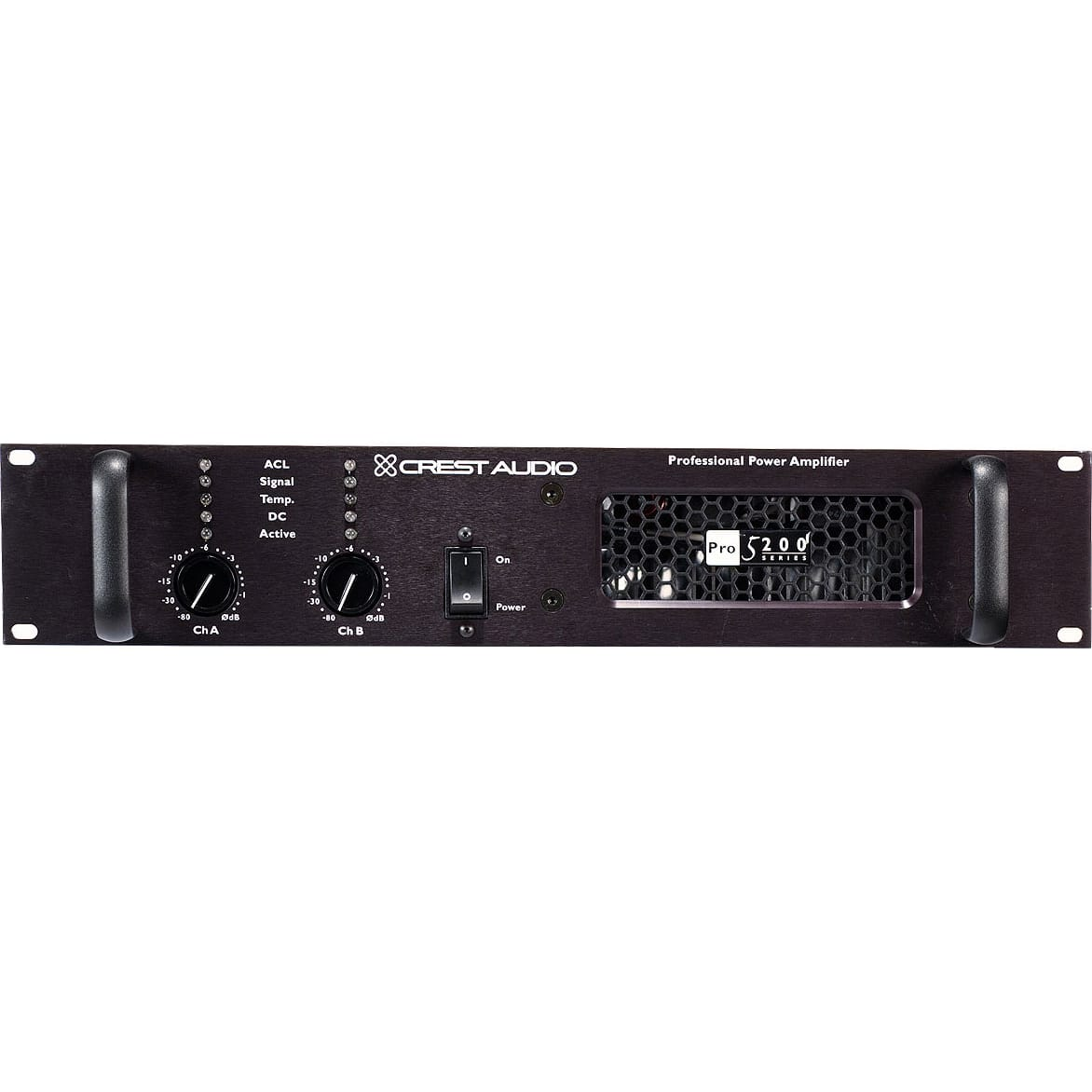 Crest Audio Pro 5200 - 290W @ 8 Ohms Stereo / 1700W @ 8 Ohms bridged stereo amplifier.