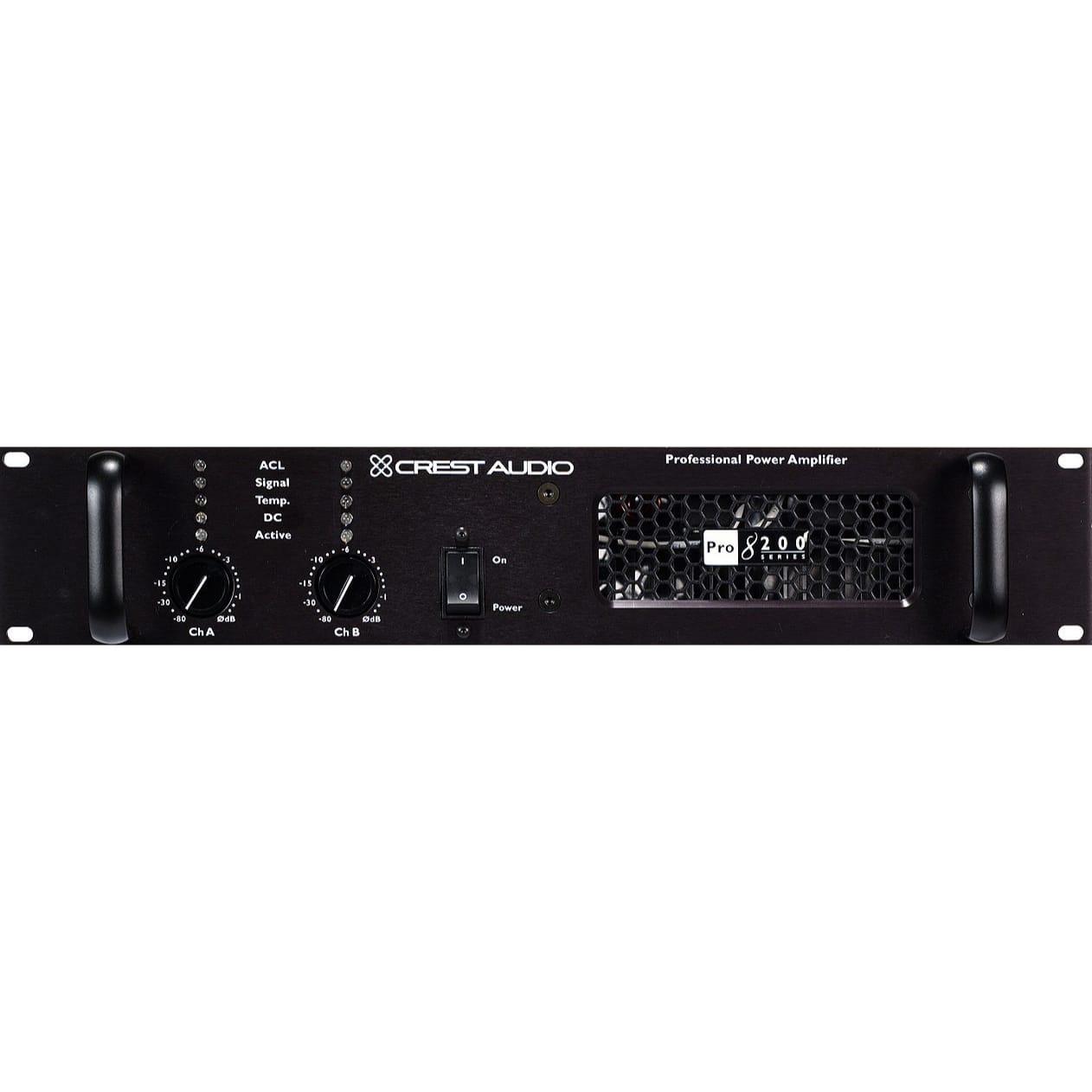 Crest Audio Pro 8200 - 825W @ 8 Ohms stereo amplifier.