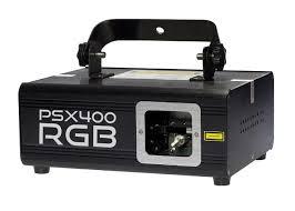X-Laser PSX-400 RGB - DMX controllable RGB laser fixture.