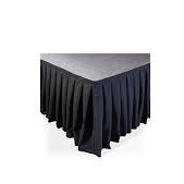 Skirting is the icing on the cake! - A furled black cloth skirt will make your stage presentable in all situations.