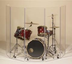 """Clearsonic Acrylic Drum Shield - x6 5.5'x2' 1/4""""-thick acrylic panels with translucent pop-on hinges for flexible configurations."""