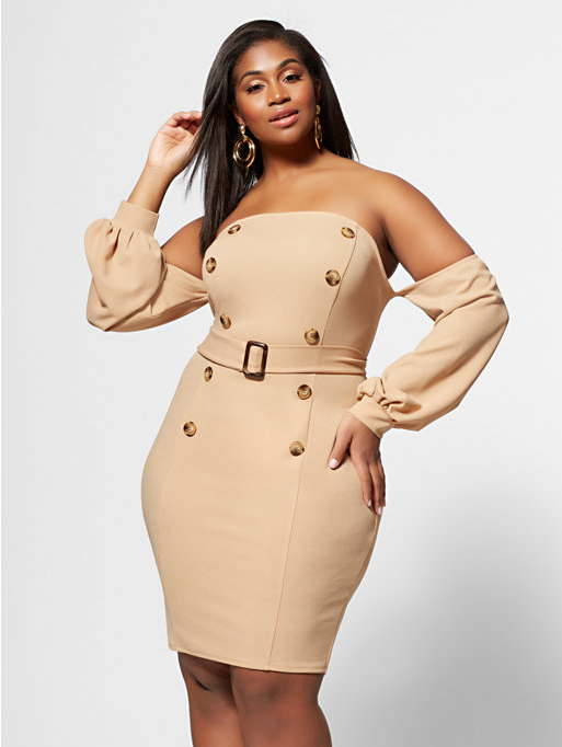 Fashion to Figure Zoe Off-Shoulder Bodycon Dress , $64.95