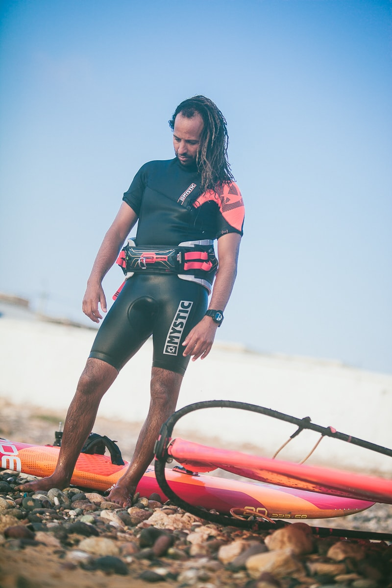 Boujmaa, Moroccan windsurfer