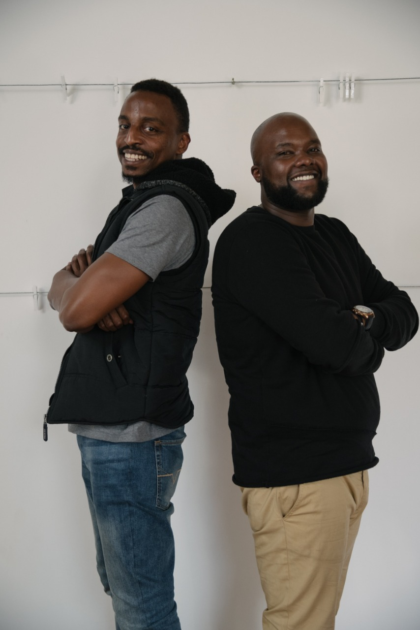 The founders of Mookh, Thimba (left) and Poji (right)