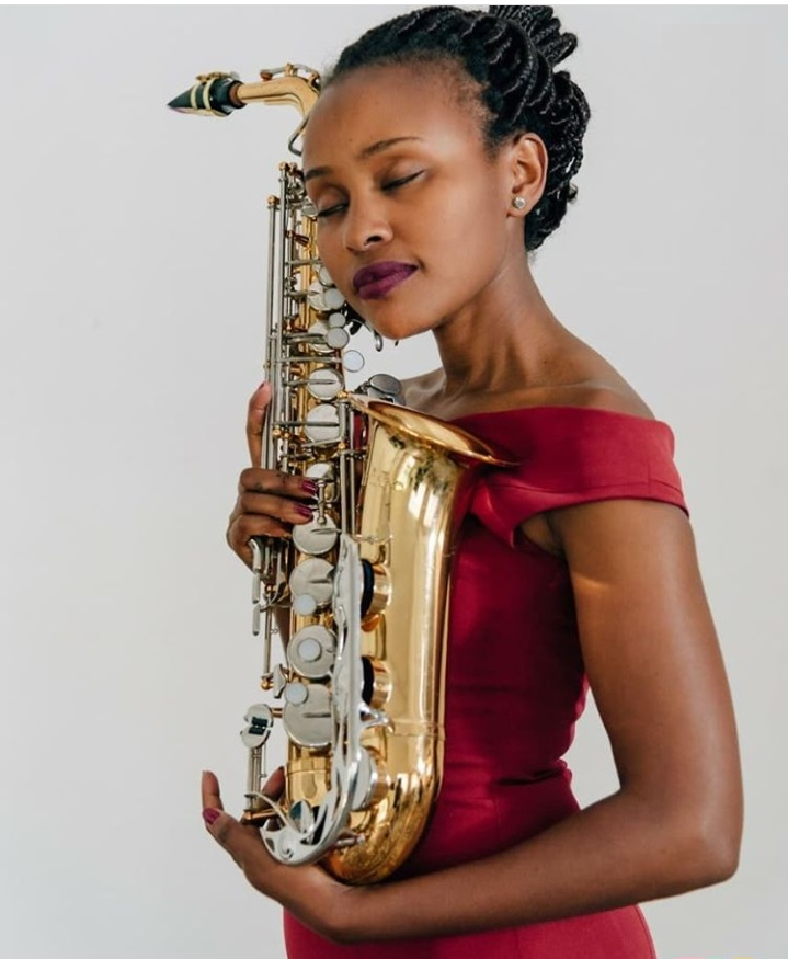 Stella Tushabe, Rwanda's first Rwandan female Saxophone player.