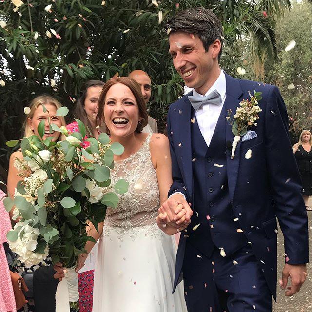 What a wedding! Congratulations you beautiful pair 💒 @sazpow @iaincalleja #thecallejahweddding