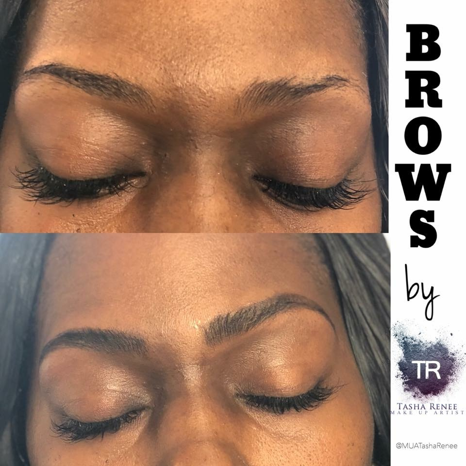 Brow Wax & Tint - Brow Tinting lasts 1-3 weeks and MUA TashaRenee is a licensed esthetician commeitted to giving you your best brows.