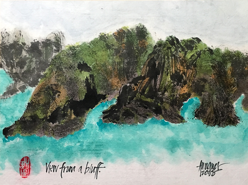 Annette Wagner , View From a Bluff