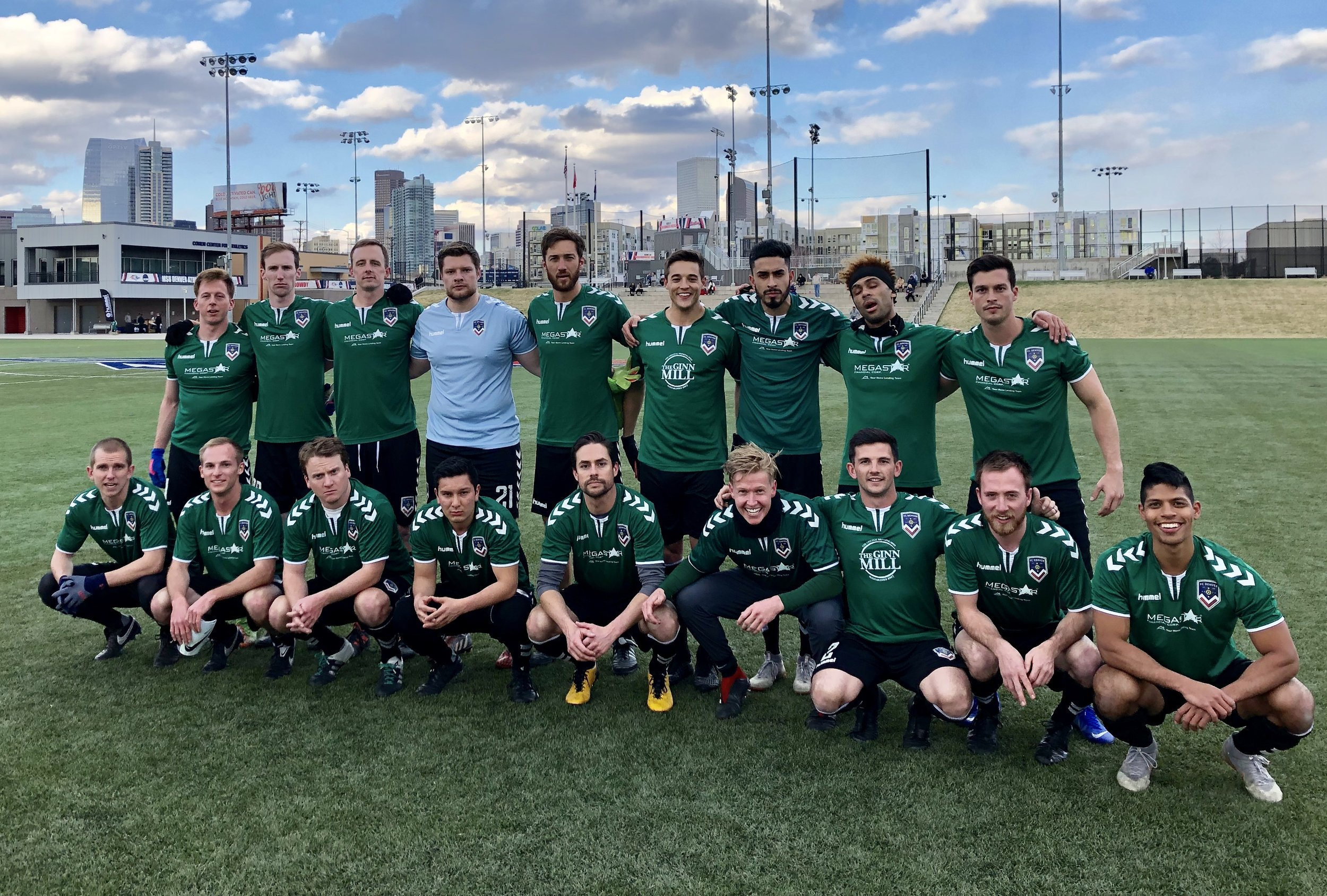 FC Denver starting 11 vs Union Jerez