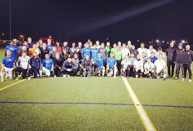 A major thanks to the terrific Air Force Men's National Soccer Team for the competitive friendly last night. What a classy group of people and players. We wish you all the best in your competitions ahead. #SoccerFamily #airforcesoccer