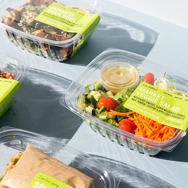 Gratitude on the go, packaged in plant-based, compostable containers 🏃🏽♂️🌱