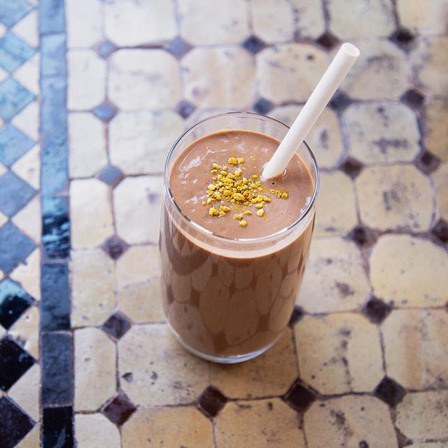 Only a couple days left to try our March special, I am Active. A Fuel, Fat and Fiber-rich blended mocha 💪🏽 with espresso, coconut meat, plant protein, dates, almond milk, raw honey, cacao, reishi, shilajit, chaga, he shou wu and bee pollen.  Available at CG Arts District, Larchmont, San Diego & Venice.