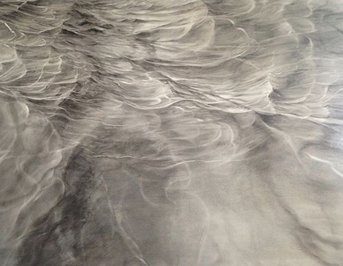 """Jennifer Day: """"All You Need Is...FLOW,"""" oil on panel, 36"""" x 48""""."""
