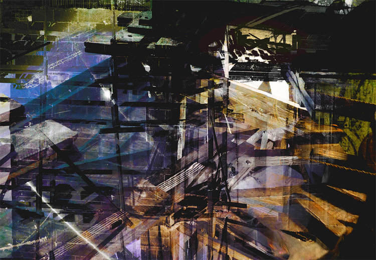 "Daniel Feldman: ""Spiral Staircase,"" archival inkjet print, 24"" x 34.5"", 2019"