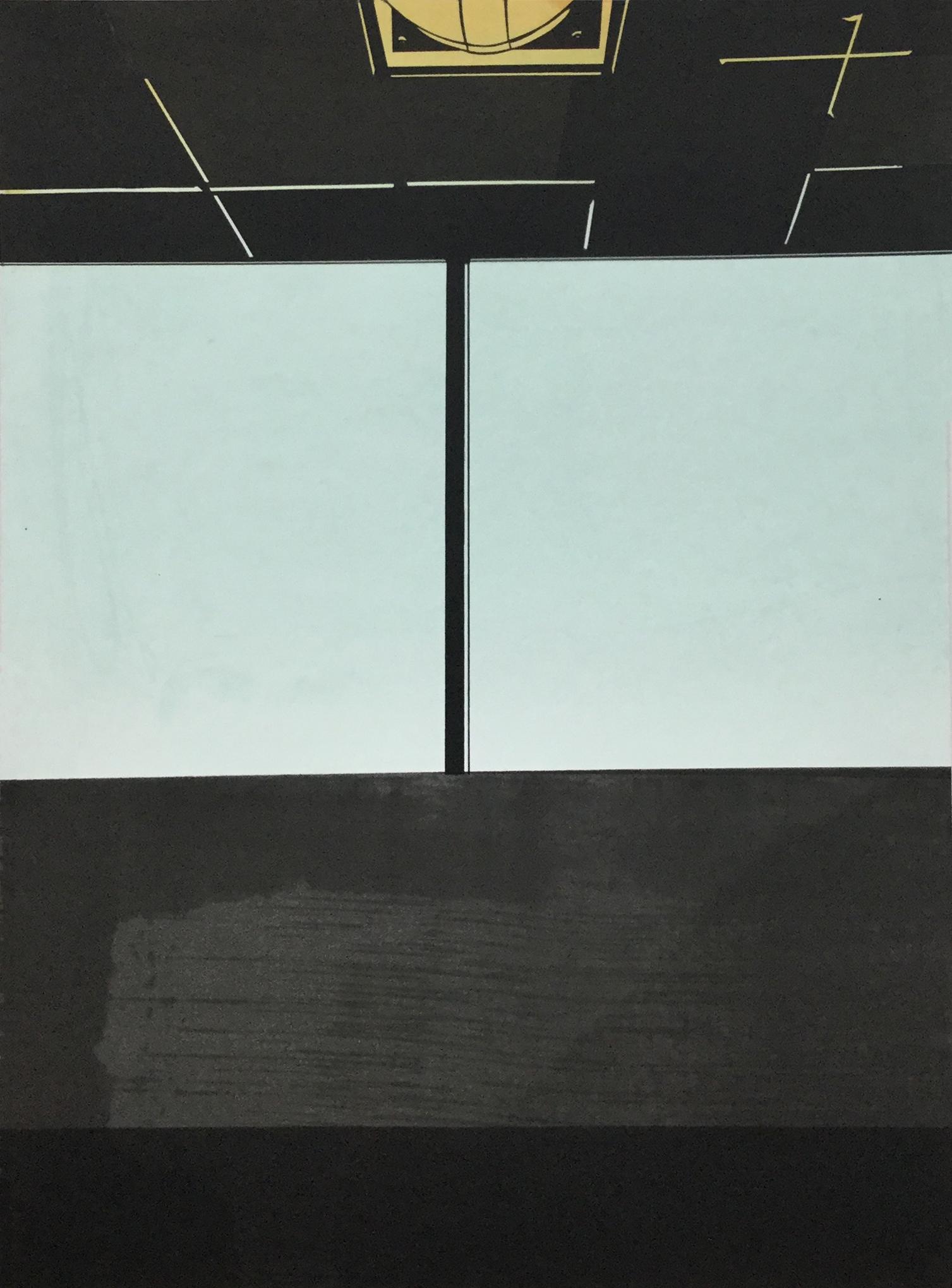 "Seacaucus II  monotype and silkscreen on paper 22x30"""