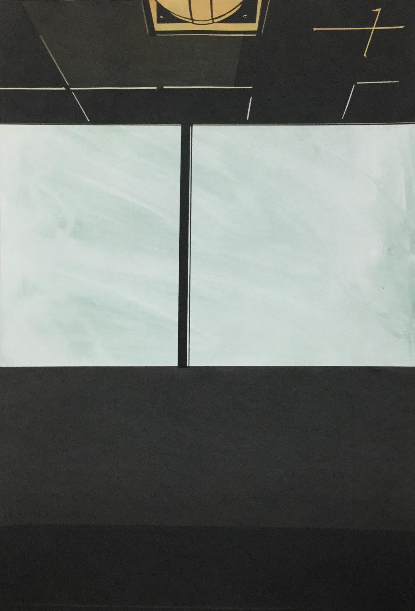"Seacaucus III  monotype and silkscreen on paper  20x30"""