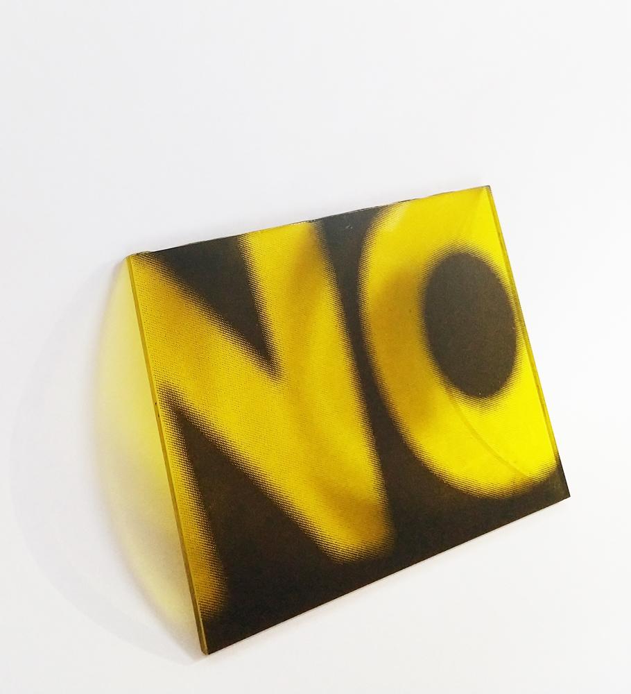 "NO   Silkscreen on acrylic sheet  5x7.5x.25"""